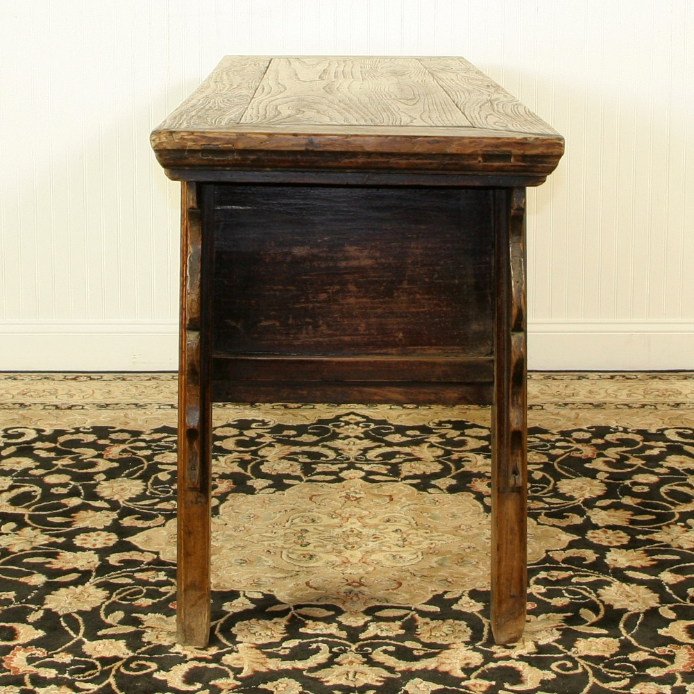 Antique chinese 68 inch long console table 7 drawers for Antique chinese tables for sale