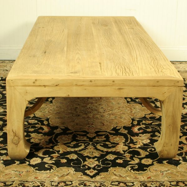 """Asian Style Large Coffee Table Antique Elm Wood, 36"""" X 69"""""""