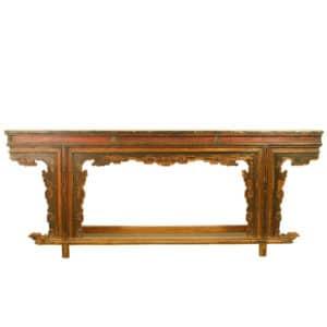 Antique Asian 86 inch Long Unique style Altar Table