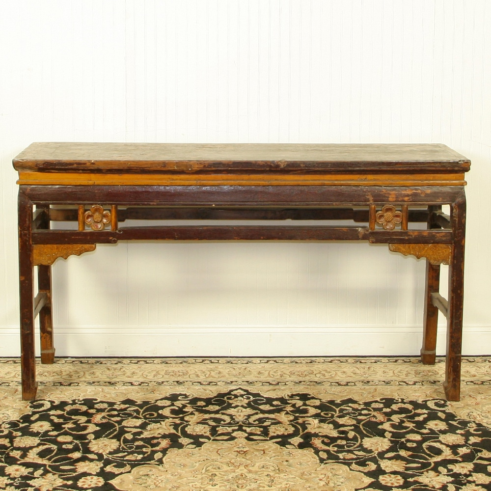 Antique chinese 63 inch sofa hall table for Sofa table 50 inches