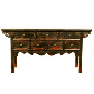 64 inch Long Black Asian Buffet table