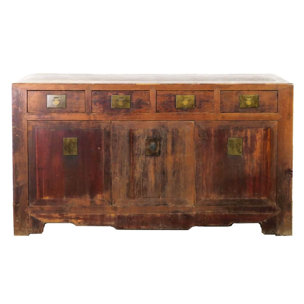 antique chinese 62 inch long buffet sideboard cabinet. Black Bedroom Furniture Sets. Home Design Ideas